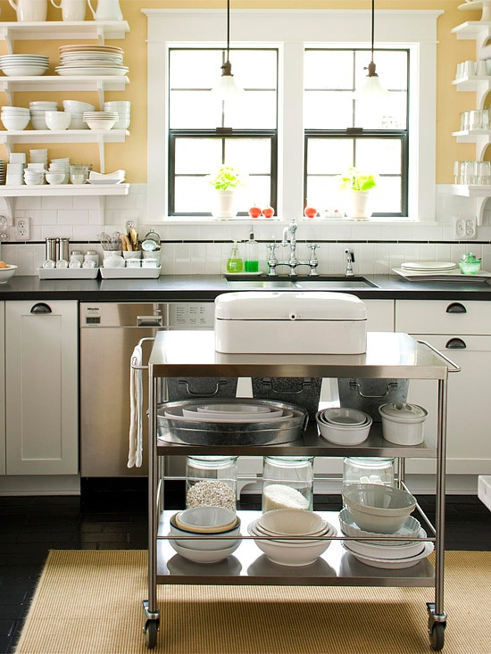 The Pictures Of These Kitchens Are Always Open Clean Airy Light And Bright Most Often White Who Wouldn T Want All That