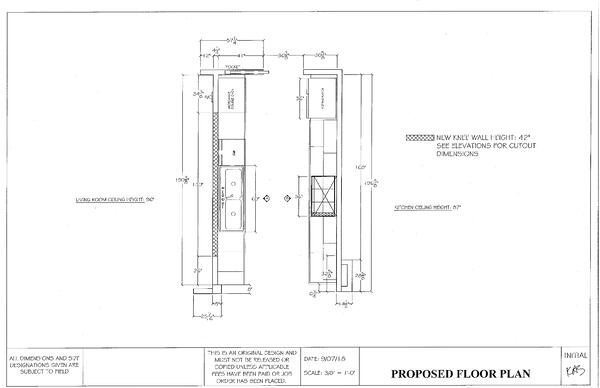 French Galley Proposed Floor Plan